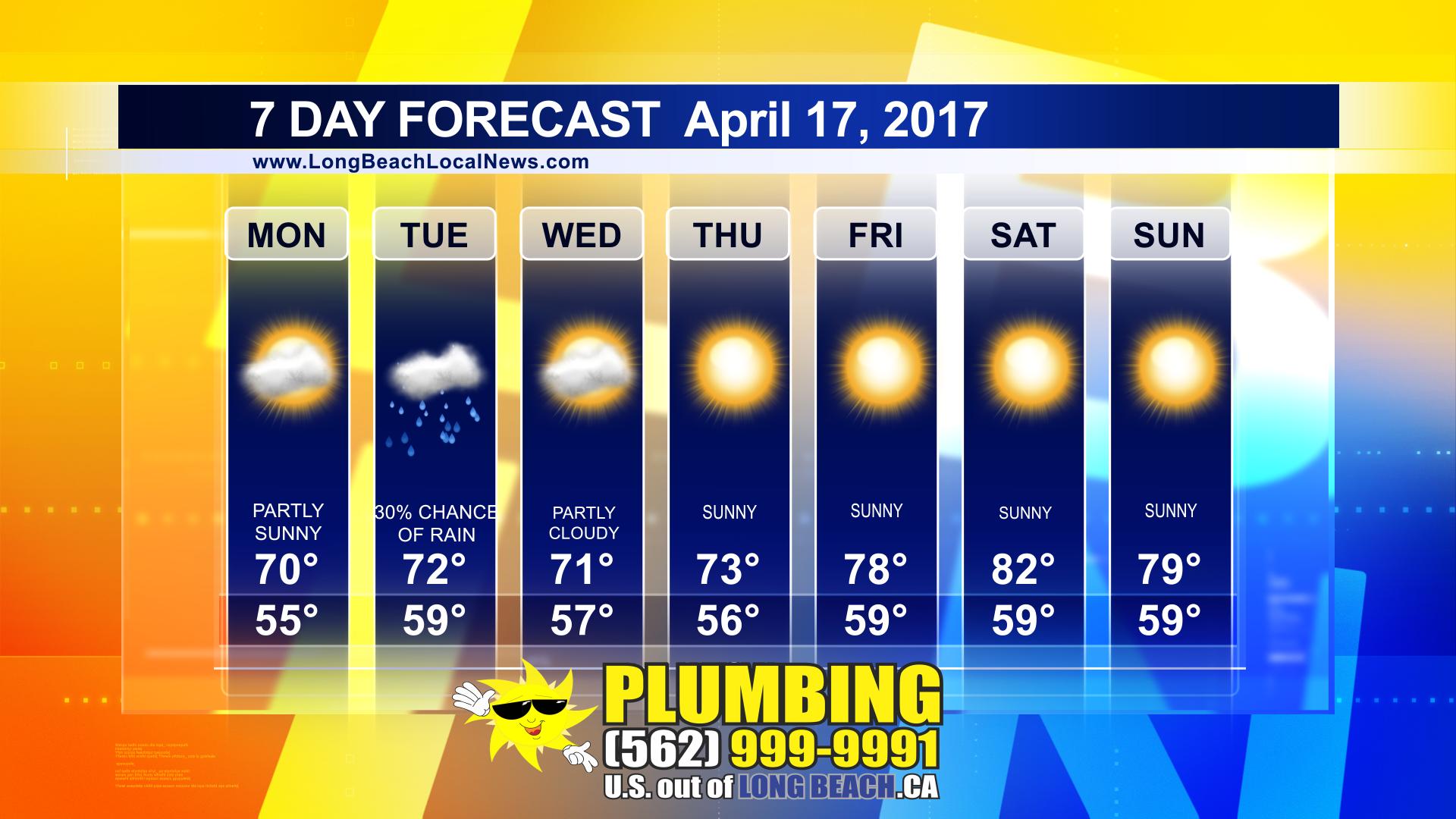 7 Day Forecast April 17 2017 Long Beach Local News